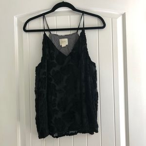 Anthropologie 'Maeve' Velvet Tank Top